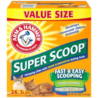 Arm & Hammer® Super Scoop™ Scented Cat Litter (26.3# Value Size)