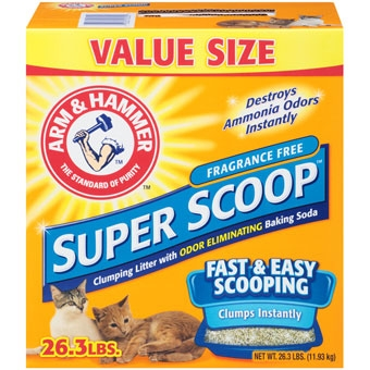Arm & Hammer® Super Scoop™ Unscented Cat Litter (26.3# Value Size)