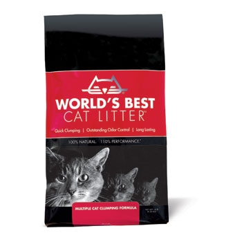 World's Best® Clumping Formula Cat Litter for Multiple Cats  (14#)
