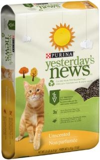 Purina® Yesterday's News® Unscented Cat Litter (15#)