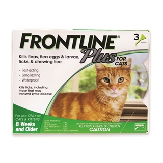 Frontline® Plus For Cats & Kittens Over 8 Weeks (3-Dose Pack)