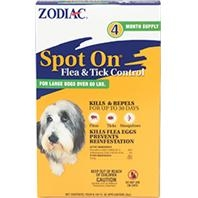 Zodiac® Spot On® Flea & Tick Control for Dogs Over 60#'s (4 Month Supply)