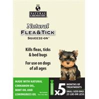 Natural Chemistry® Natural Flea & Tick Squeeze-On® For Small Dogs (5 Month Supply)