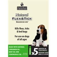 Natural Chemistry® Natural Flea & Tick Squeeze-On® For Medium Dogs (5 Month Supply)