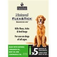 Natural Chemistry® Natural Flea & Tick Squeeze-On® for Large Dogs (5 Month Supply)