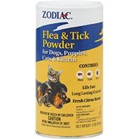 Zodiac® Flea & Tick Powder for Puppies, Dogs, Kittens & Cats (6oz)