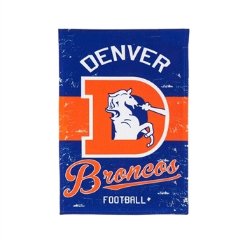 NFL® Vintage Series Denver Broncos Decorative Garden Flag