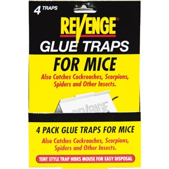 Revenge® Glue Traps for Mice (4/Pack)