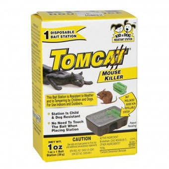 Tomcat® Mouse Killer Disposable Bait Station (1oz Single Pack)