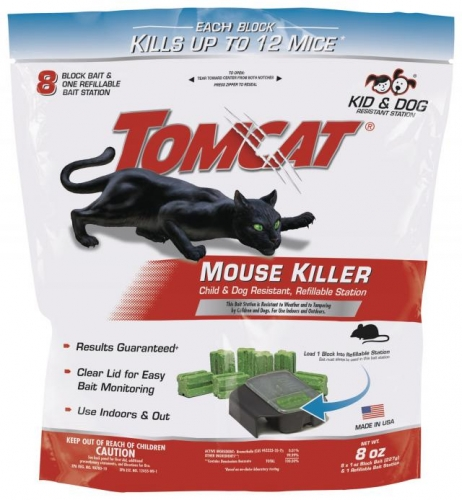 Tomcat® Mouse Killer I® Refillable Bait Station (Includes 8 Bait Refills)