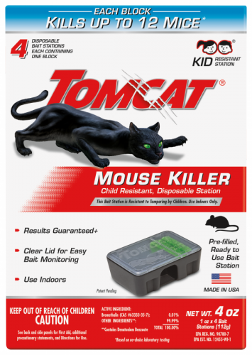 Tomcat® Mouse Killer II® Disposable Bait Station (4 Pack)