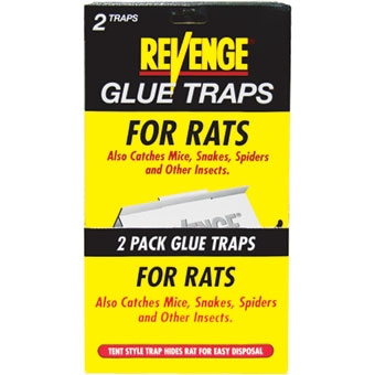 Revenge® Glue Traps for Rats (2/Pack)