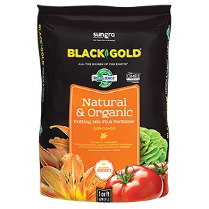 Black Gold® Natural & Organic Potting Mix Plus Fertilizer (8 Quart) (OMRI Certified Organic)