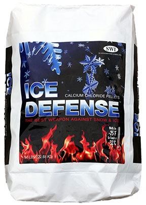 Ice Defense™ Calcium Chloride Pellet Ice Melter  (50# Bag)