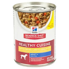 Hill's® Science Diet® Healthy Cuisine™ Roasted Chicken, Carrot & Spinach Stew for Adult (7+) Dog Food (12.5oz Can)