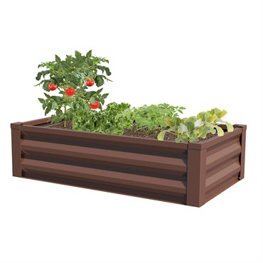 Panacea™ Raised Galvanized Planter-Timber Brown (47