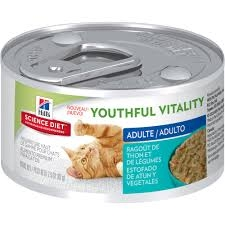 Hill's® Science Diet® Youthful Vitality™ Tuna & Vegetable Entree for Adult Cats 7+ (2.9oz Can)