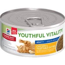 Hill's® Science Diet® Youthful Vitality™ Chicken & Vegetable Entree for Adult Cats 7+ (2.9oz Can)