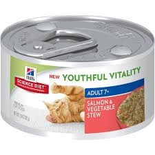 Hill's® Science Diet® Youthful Vitality™ Salmon & Vegetable Stew for Adult Cats 7+ (2.9oz Can)