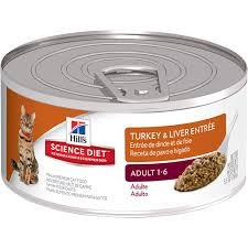 Hill's® Science Diet® Turkey & Liver Entrée Adult Cat Food (5.5oz Can)