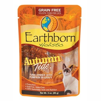 Earthborn® Holistic Autumn Tide™ Grain-Free Tuna Dinner with Pumpkin in Gravy Cat Food (3oz Pouch)