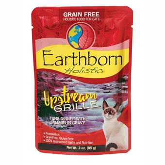 Earthborn® Holistic Upstream Grille™ Tuna Dinner with Salmon in Gravy Grain-Free Cat Food (3oz Pouch)