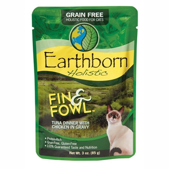 Earthborn® Holistic Fin & Fowl™ Tuna Dinner with Chicken in Gravy Grain-Free Cat Food (3oz Pouch)