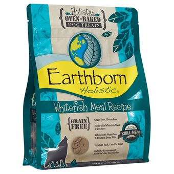 Earthborn® Holistic Whitefish Recipe Grain-Free Oven-Baked Dog Treats (2#)