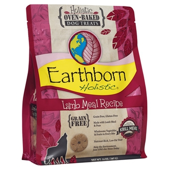 Earthborn® Holistic Lamb Meal Recipe Grain-Free Oven-Baked Dog Treat (2#)