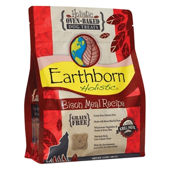 Earthborn® Holistic Bison Meal Recipe Grain-Free Oven-Baked Dog Treats (14oz)