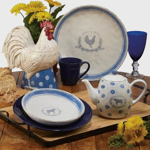 Urban Farmhouse Tableware Set B by Susan Winget