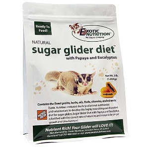 Exotic Nutrition Sugar Glider Diet with Papaya & Eucalyptus