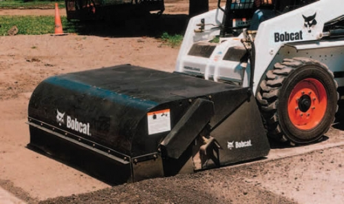 Sweeper/Broom Attachment Skid Loaders with Gutter Brush