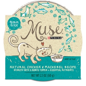 Muse by Purina natural Chicken & Mackerel Cat Food Recipe