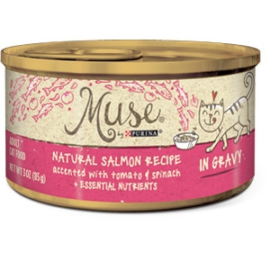 Muse by Purina natural Salmon, Tomato, Spinach Cat Food Recipe