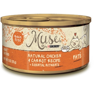 Muse by Purina Natural Chicken & Carrot Cat Food Pate Recipe