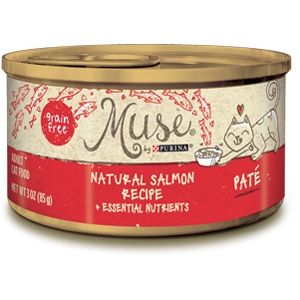 Muse by Purina Natural Salmon Cat Food Pate Recipe
