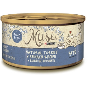 Muse by Purina Natural Turkey & Spinach Cat Food Pate Recipe