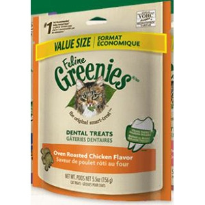 Feline Greenies Oven Roasted Chicken Flavor Dental Treats 12 Oz.