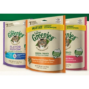 Feline Greenies Tempting Tuna Flavor Dental Treats