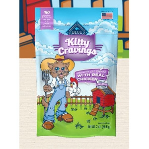 BLUE Kitty Cravings with Real Chicken Crunchy Cat Treats