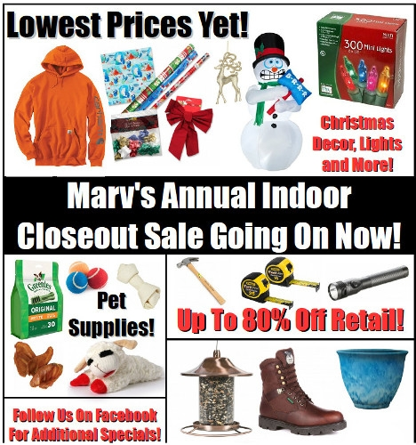 Annual Indoor Closeout Sale
