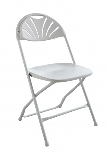 PRE White Fanback Chair (WEDDINGS ONLY)