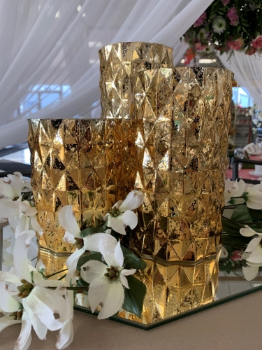 Mercury Gold Vases