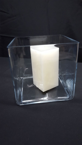 Vase, Glass, Square - 8