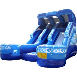 Bouncebuy Moonwalk Water Slide