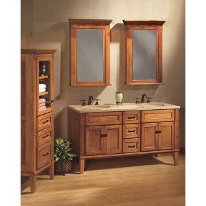 Bathroom Vanity and Linen Tower
