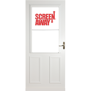 Lifestyle Mid-View White Storm Door