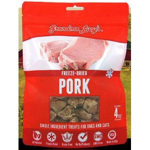 Freeze-Dried Pork Single Ingredient Treats for Dogs and Cats