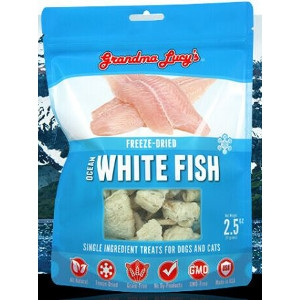 Freeze-Dried Ocean White Fish Single Ingredient Treats for Dogs and Cats